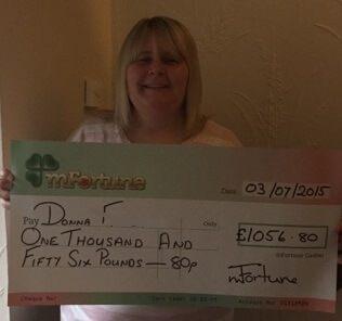 Donna F won £ 1,056