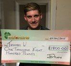 Thomas W won £ 1,800