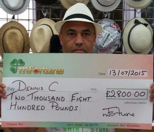 Dennis C won £ 2,800
