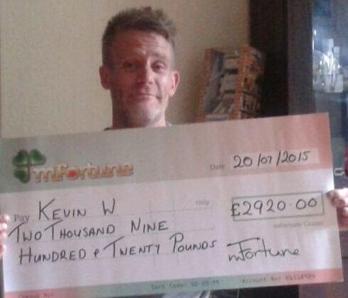 Kevin W won £ 2,920