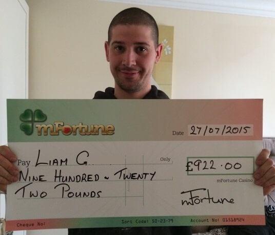 Liam G won £ 922
