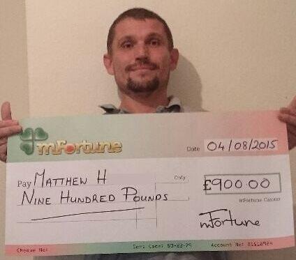 Matthew H won £ 900