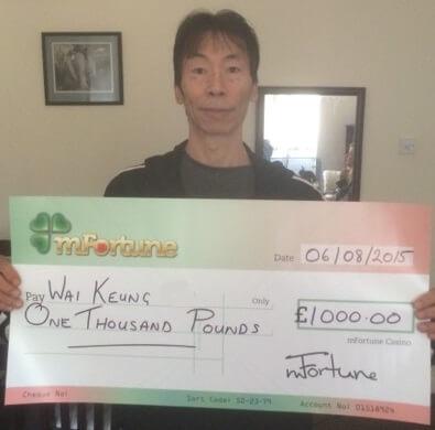 Wai Keung C won £ 1,000