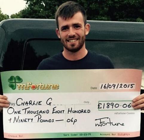 Charlie G won £ 1,890