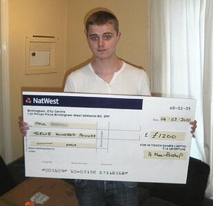 Paul B won £ 1,200