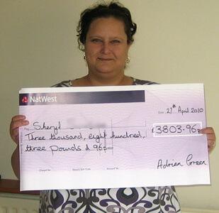 Sheryl S won £ 3,804
