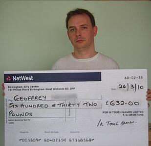 Geoffrey  W won £ 632