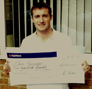 Chris F won £ 600