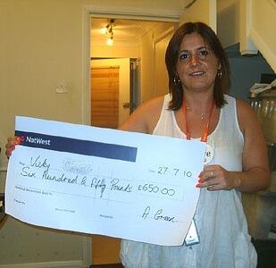 Victoria T won £ 650