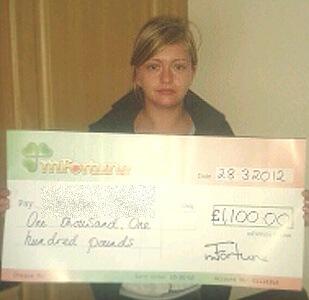 Christine M won £ 1,100