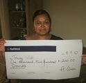 Tracey W won £ 1,200