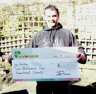 Ashley P won £ 2,500