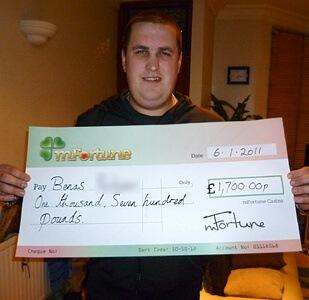 Benas P won £ 1,700