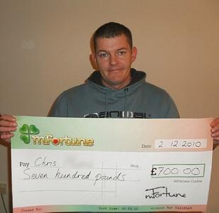 Chris M won £ 700