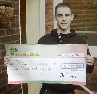 Jordan R won £ 1,000