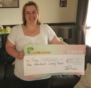 Tracy H won £ 970