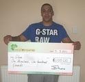 Glenn M won £ 1,100