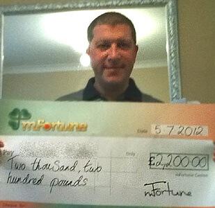 Jason M won £ 2,200