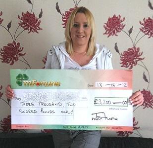 Jodynne C won £ 3,200