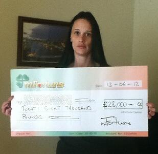 Lisa K won £ 28,000