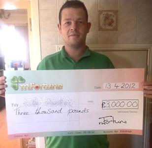Luke H won £ 3,000