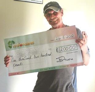Roger Y won £ 1,200