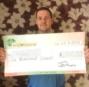 Matthew F won £ 1,000