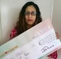 Fauzia K won £ 1,200