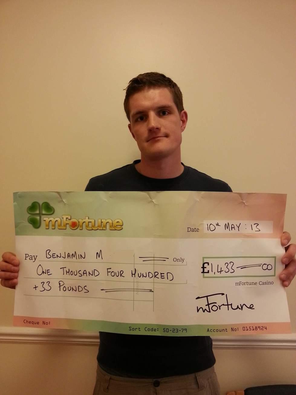 Benjamin M won £ 1,433