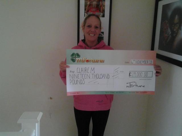 Clair M won £ 19,000