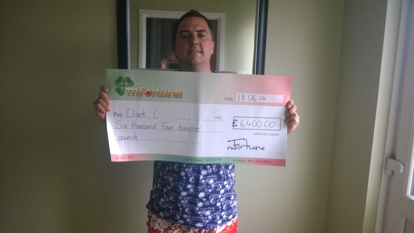 Clark C won £ 6,400