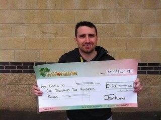 Craig G won £ 1,200