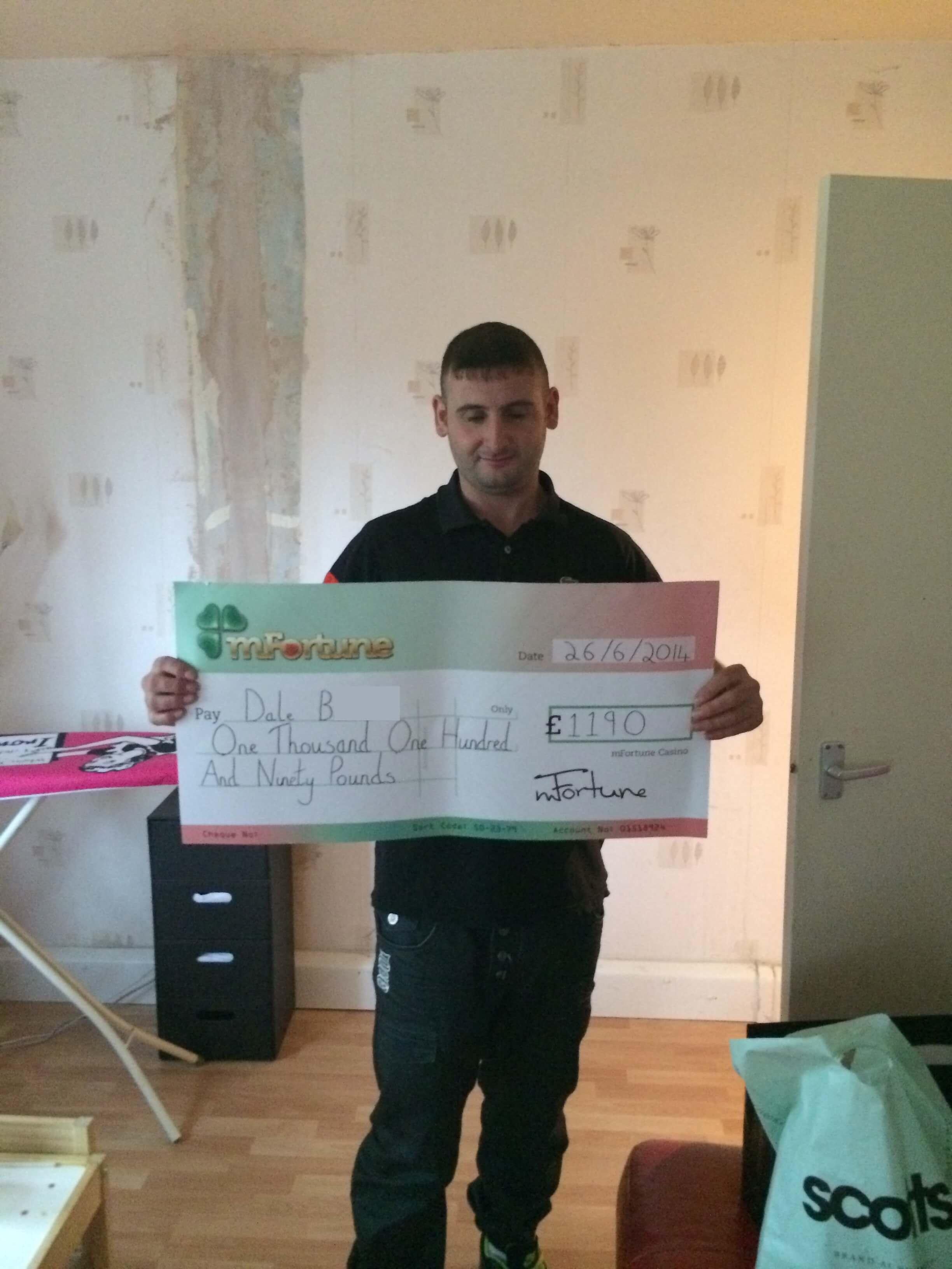 Dale B won £ 1,190