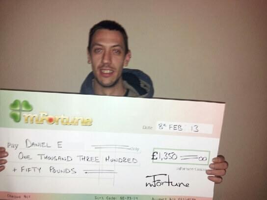 Daniel E won £ 1,350