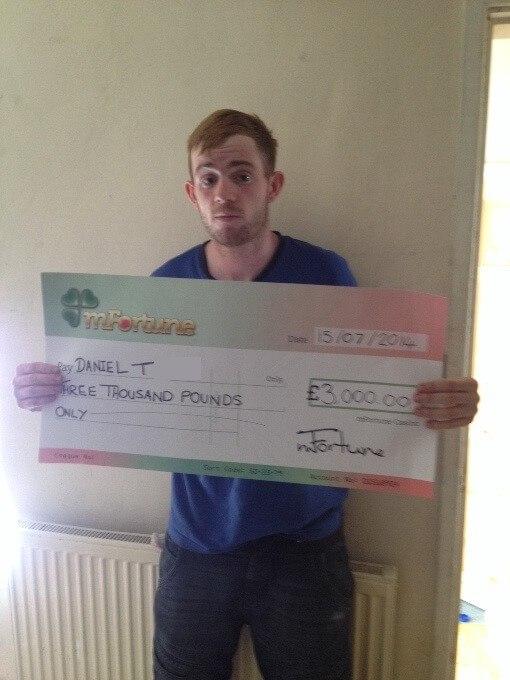 Daniel T won £ 3,000