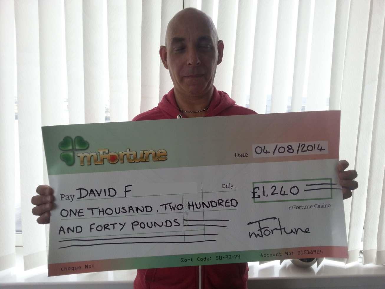 David F won £ 1,240