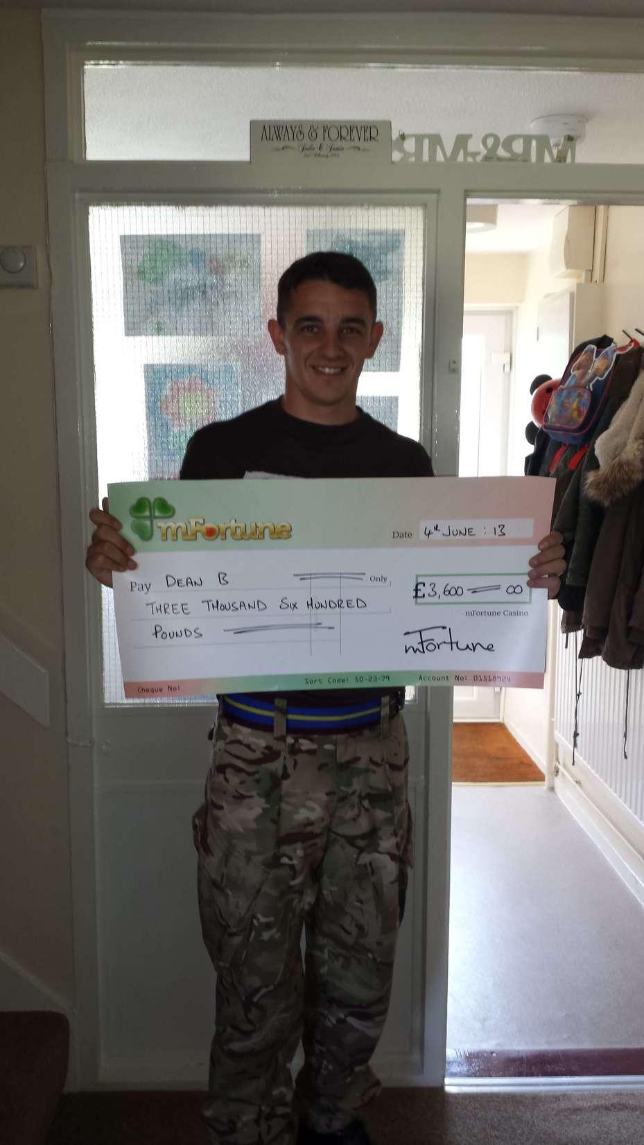 Dean B won £ 3,600