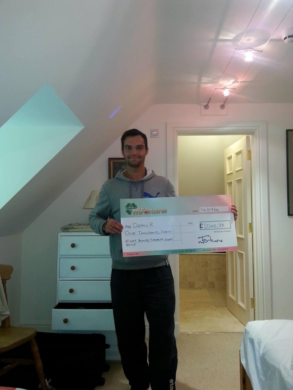 Dean R won £ 1,048