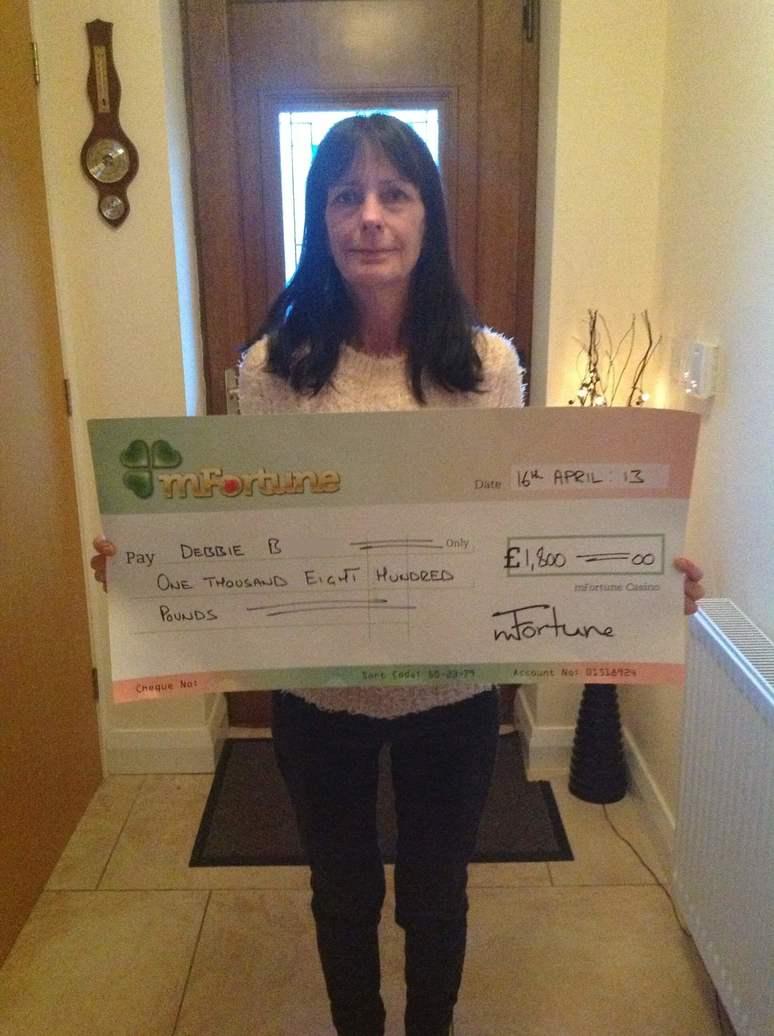 Debbie B won £ 1,800
