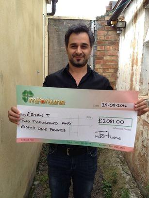 Ertan T won £ 2,081