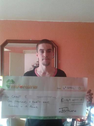 Grant E won £ 1,049