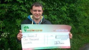 James J won £ 1,000