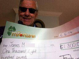 James M won £ 1,800
