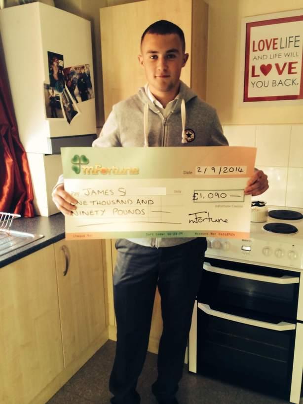 James S won £ 1,090
