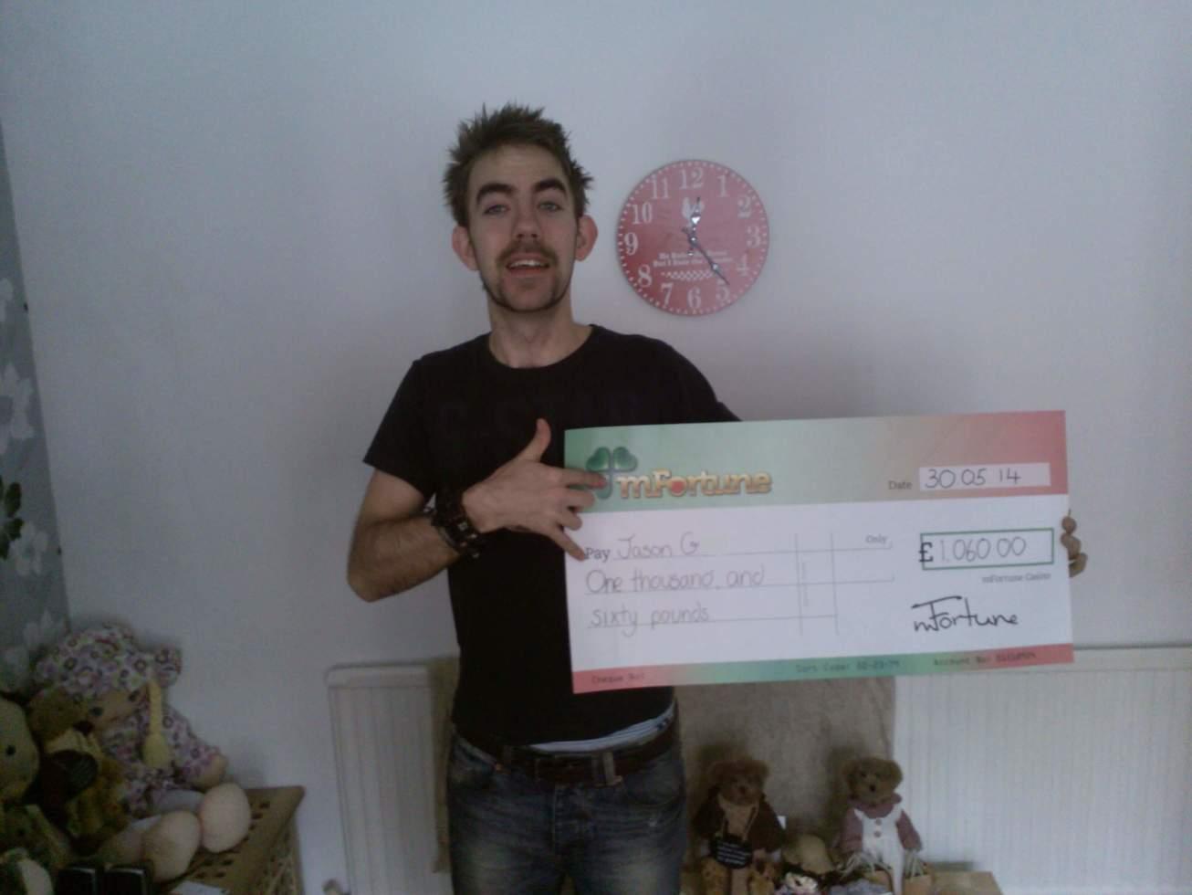 Jason G won £ 1,060