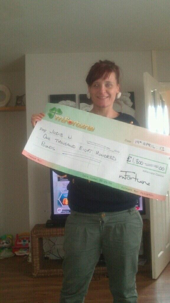 Jodie W won £ 1,800