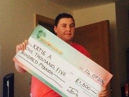 Katie A won £ 1,500