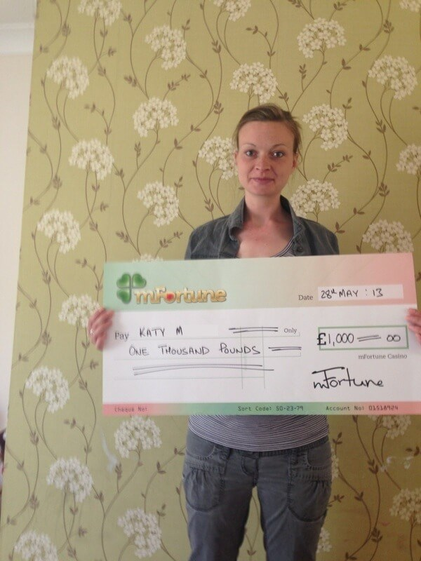 Katy M won £ 1,000