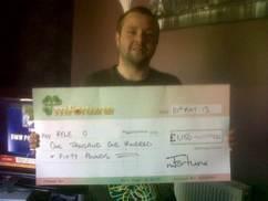 Kyle O won £ 1,150