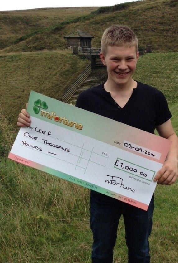 Lee F won £ 1,000